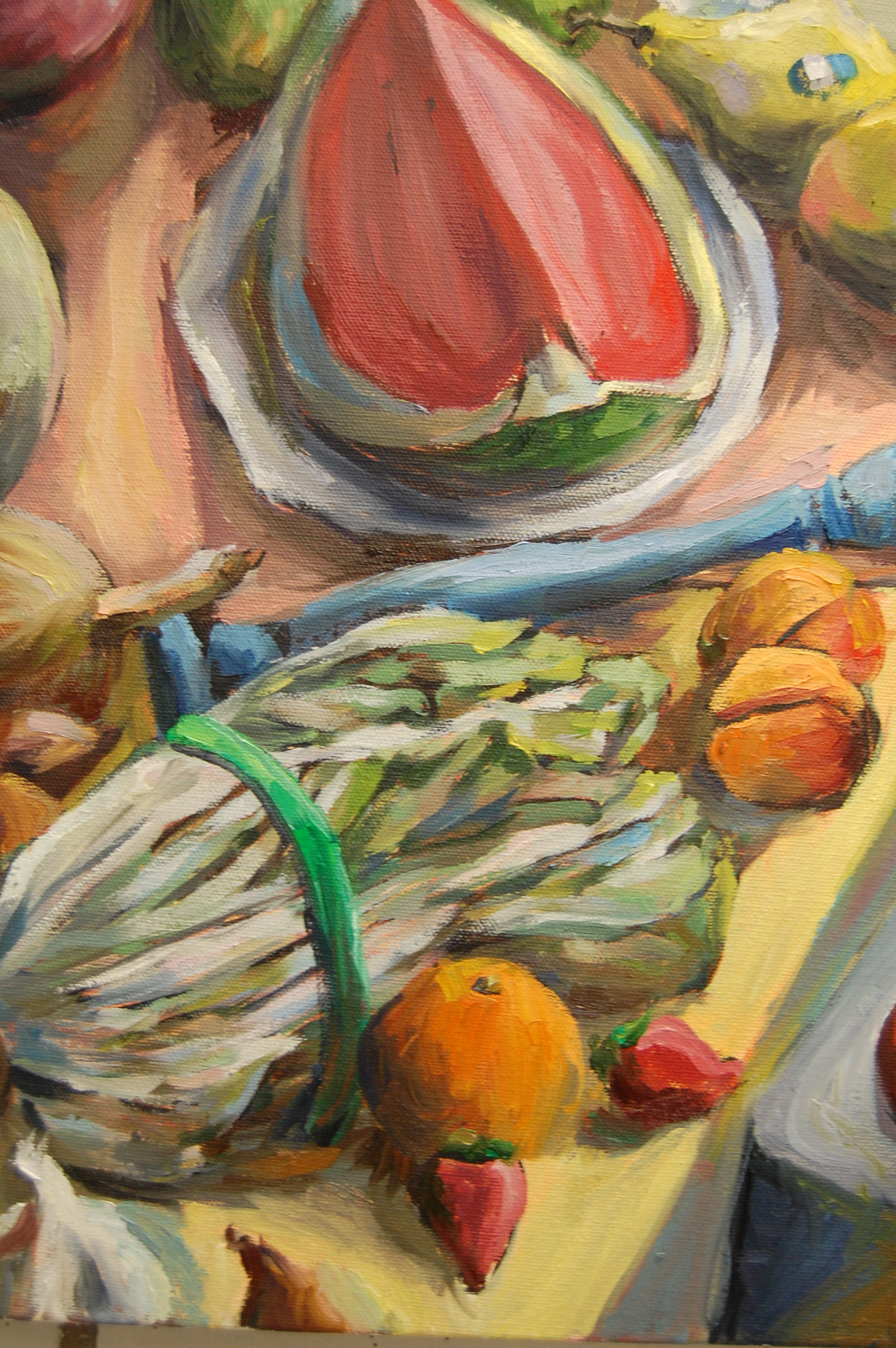 Still Life with Watermelon, Oil on canvas, 2011