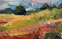 Durham, NH Landscape #3, Oil on paper, 2010