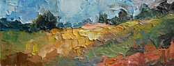 Durham Landscape #5,Oil on paper, 2010