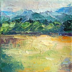 Bridgton, ME Landscape #1, Oil on canvas, 2010
