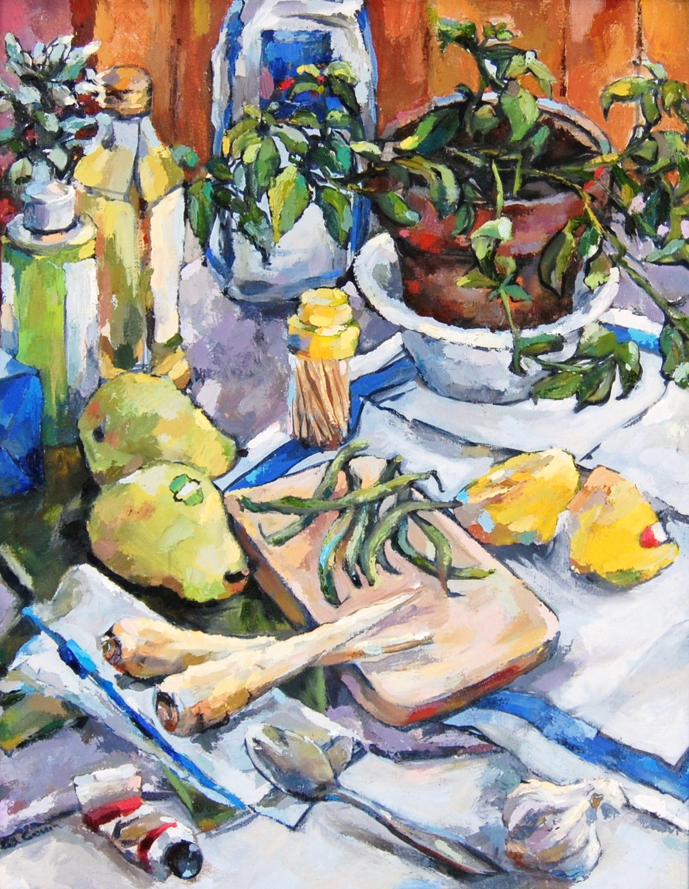 Still Life with Parsnips, Oil on Canvas, 2014