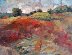 Durham, NH Landscape #1, Oil on canvas,2010