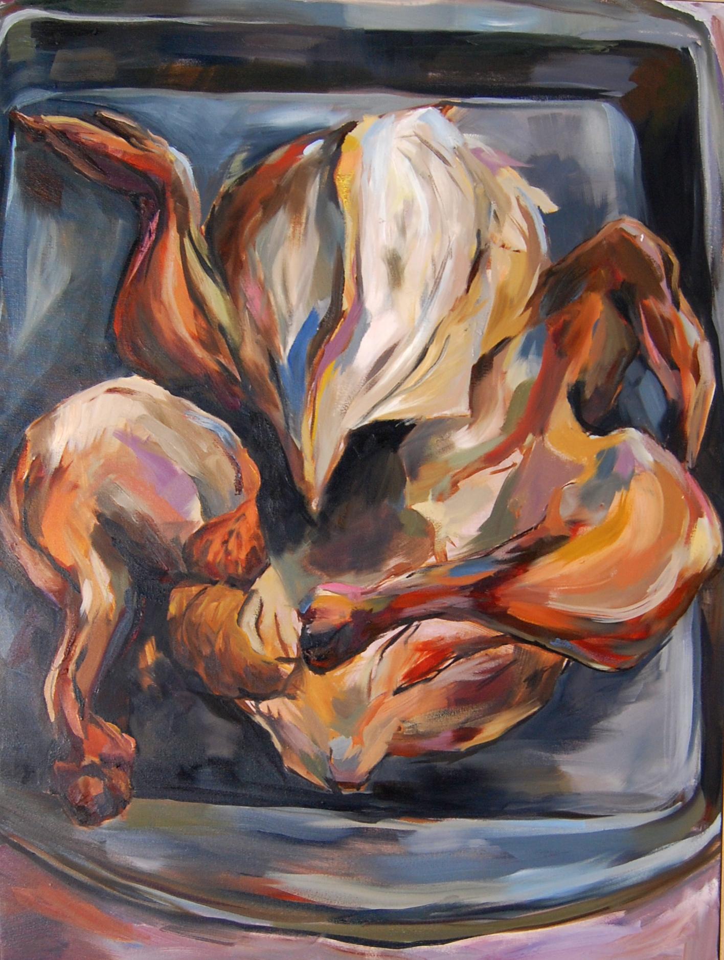Rotisserie Chicken, Oil on canvas, 2013