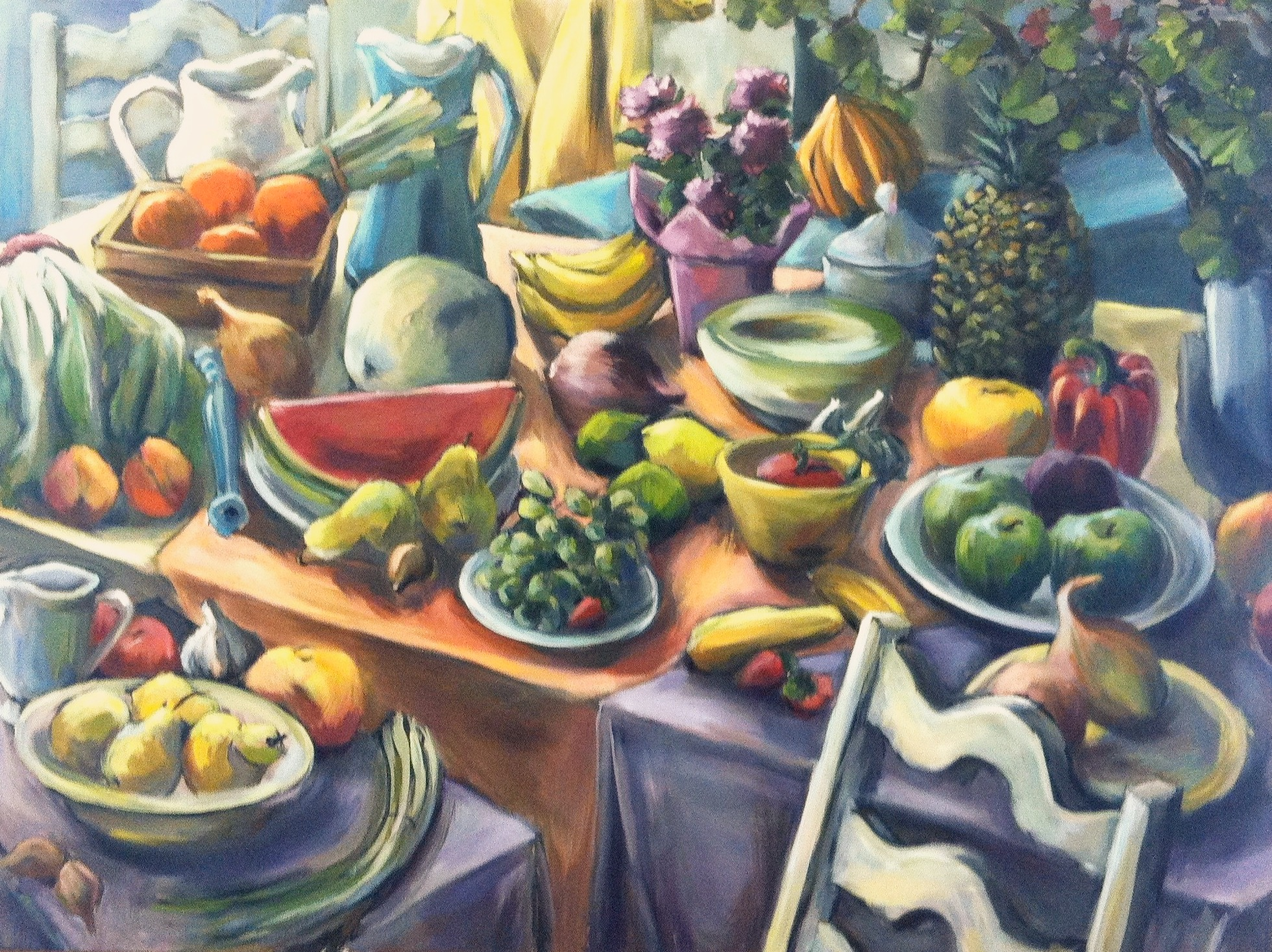 Still Life with Melons, Oil on canvas, 2011