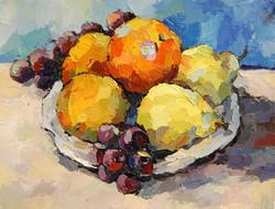 Fruit Still Life, Oil on paper, 2011