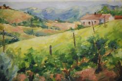 Tuscany Landscape, Oil on canvas, 2009