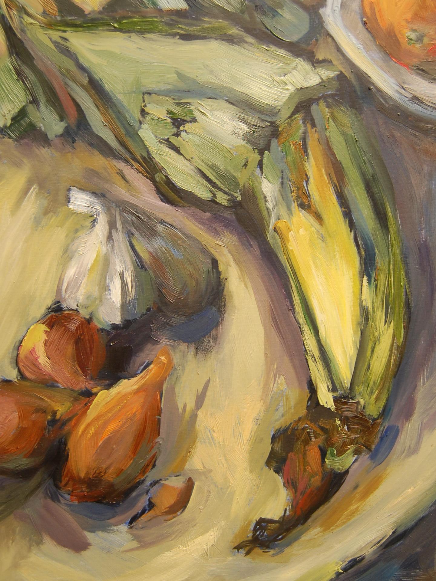 Still Life with Corn, Oil on panel, 2011