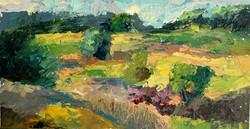 Durham, NH Landscape #4, Oil on paper, 2010