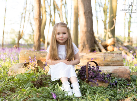 Bluebell photoshoot in the beautiful Kent countryside