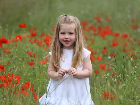Kent Poppy field photoshoot
