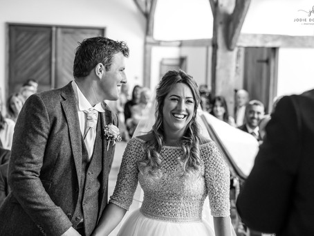 Kent Wedding photographer- Mr and Mrs Williams at Winters Barns