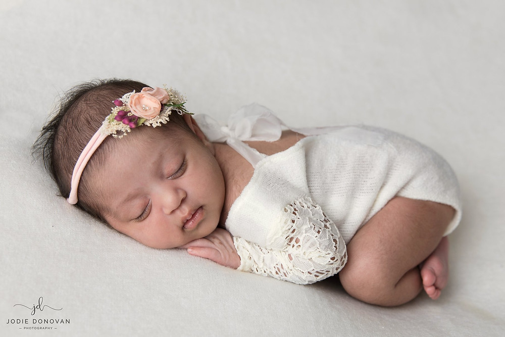 Baby Ariya on her first photoshoot at home in Gravesend, Kent