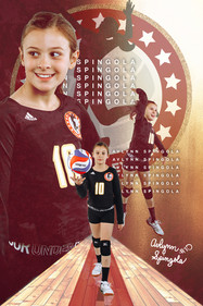 2020 I AM Volleyball Player Poster 3