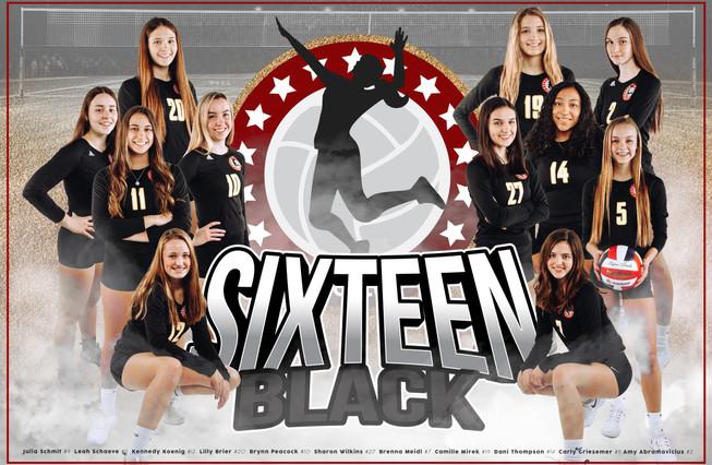 Team Poster - 16 Black