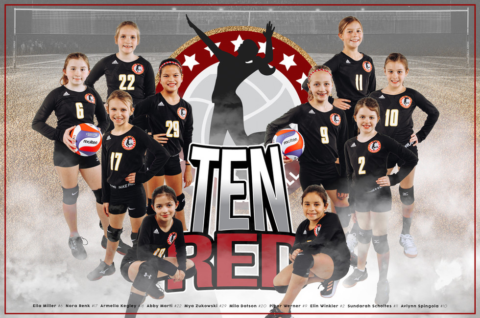 Team Poster - 10 Red