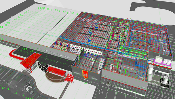 3D Building Information Model Used for C