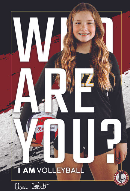 2020 - I AM Volleyball Player Poster 1