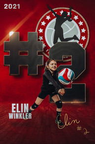 2021 I AM Volleyball Player Poster