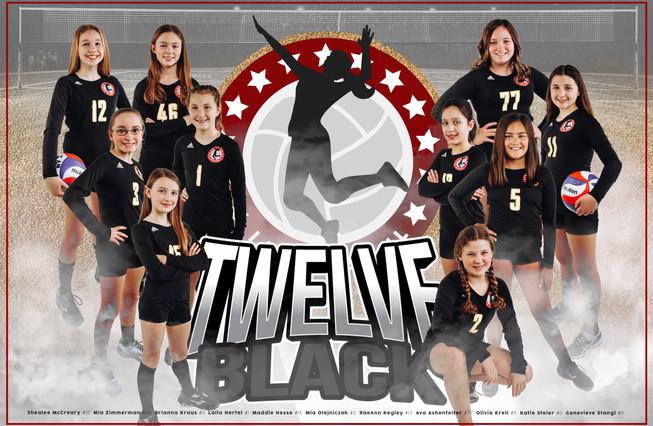 Team Poster - 12 Black