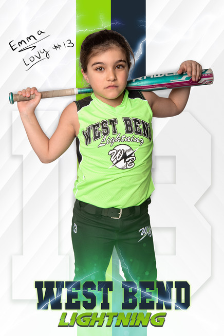 2019 West Bend Lightning Player Poster