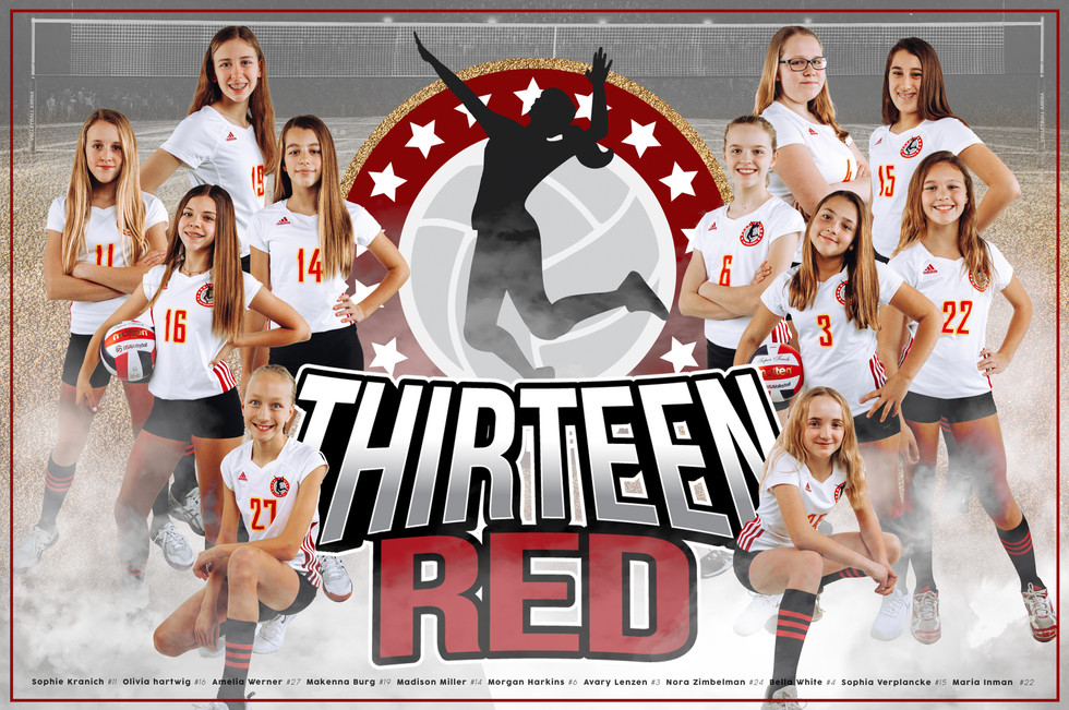 Team Poster - 13 Red