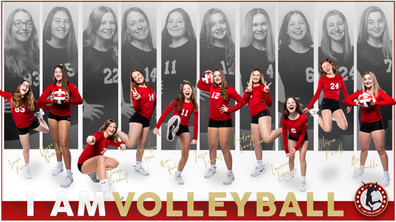 2021 I AM Volleyball Team Poster