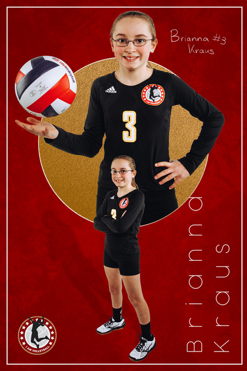 2020 - I AM Volleyball Player Poster 2