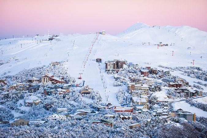 Mt Buller Ski Resort at dawn - Image by Andrew Railton