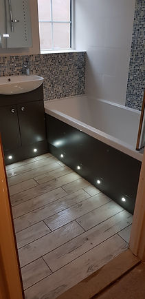 Modern bathroom with sensor lights