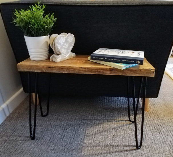 Rustic Solid Wood Side Table