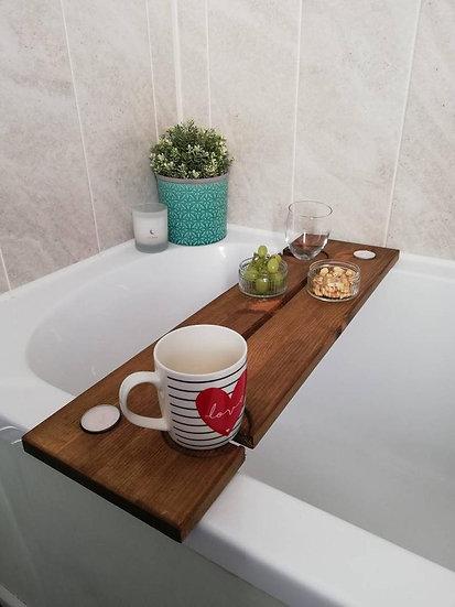 Wooden Couple's Bath Board