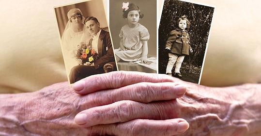 Old family photos celebrating life