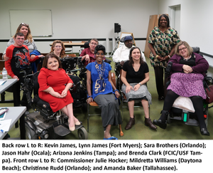 Group of Florida self-advocates posting with Administration on Disabilities Commissioner Julie Hocker