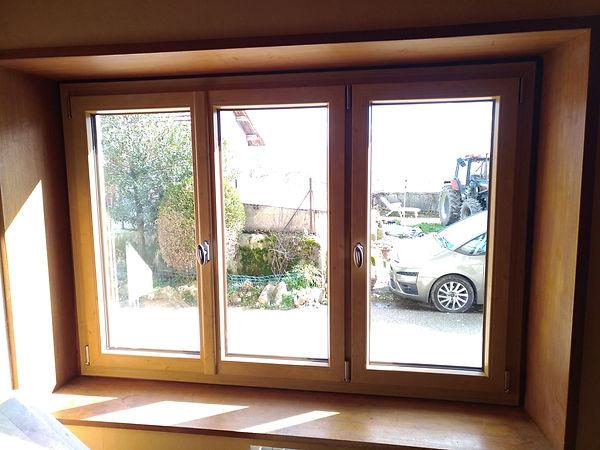 fenêtre PVC couleur chêne irlandais