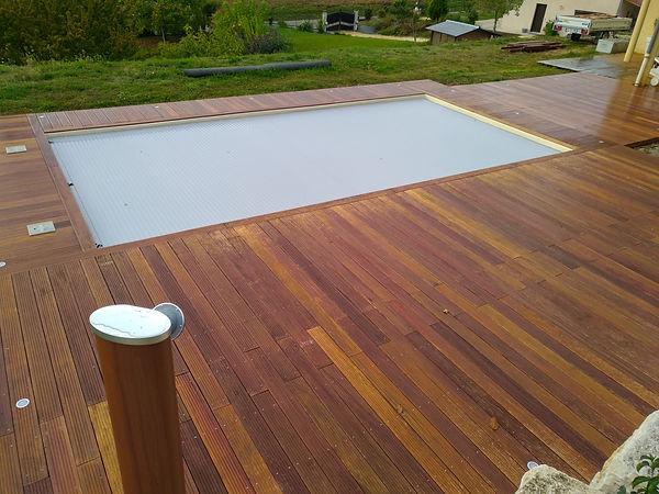 terrasse en bois camaru#piscine#menuisier