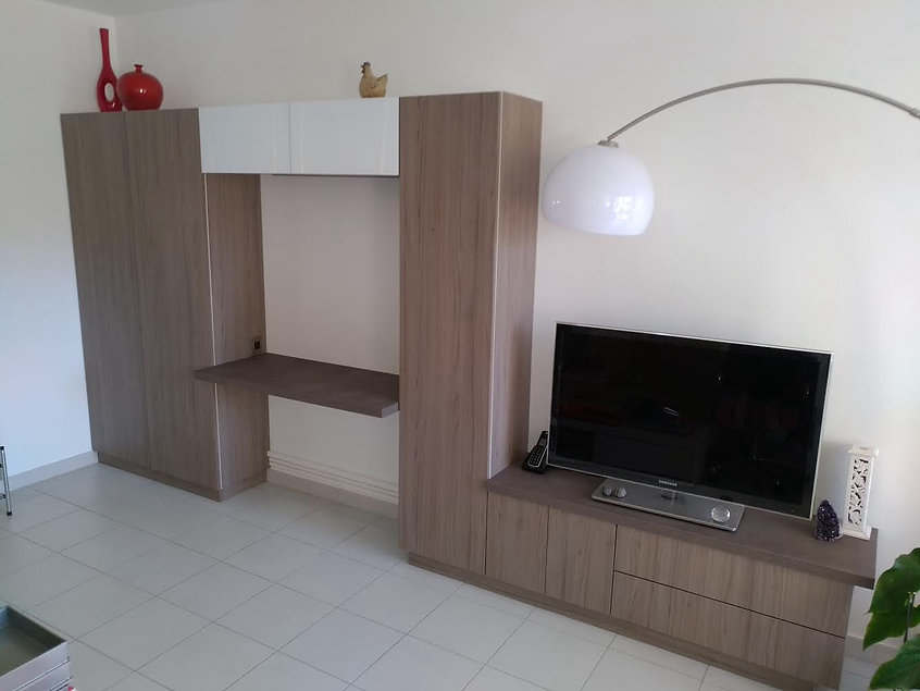 meuble bureau et télé sur mesure