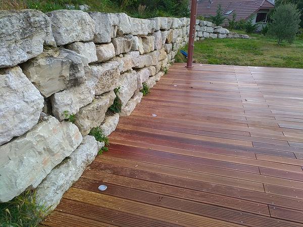 terrasse en bois de camaru#piscine#menuiserie