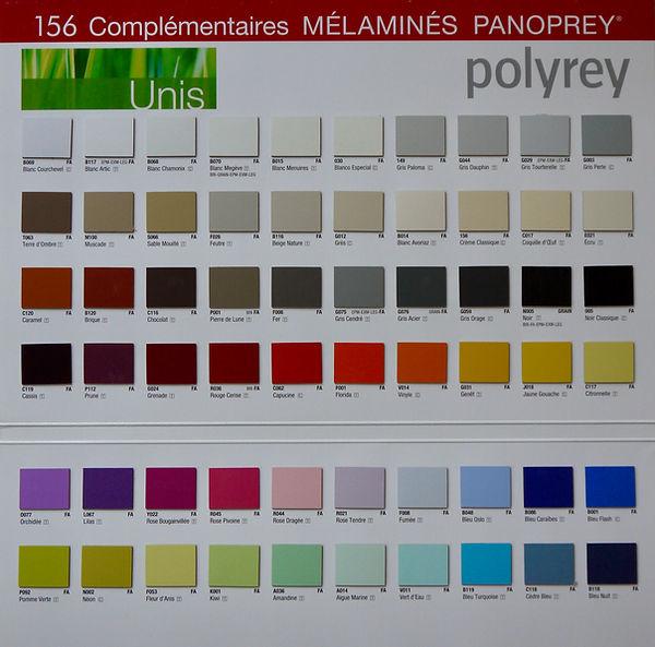 nuancier couleurs unis