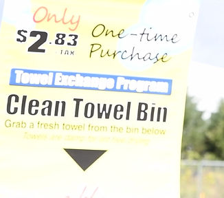 Towel Exchnage Program at Sparkle Car Wash in Stroudsburg, PA 18360