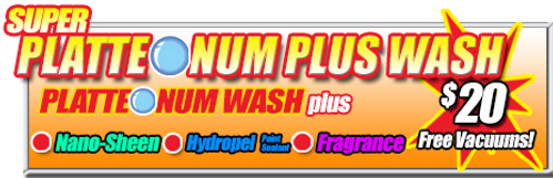 Super Suds Car Wash, Super Platteonum Plus Wash