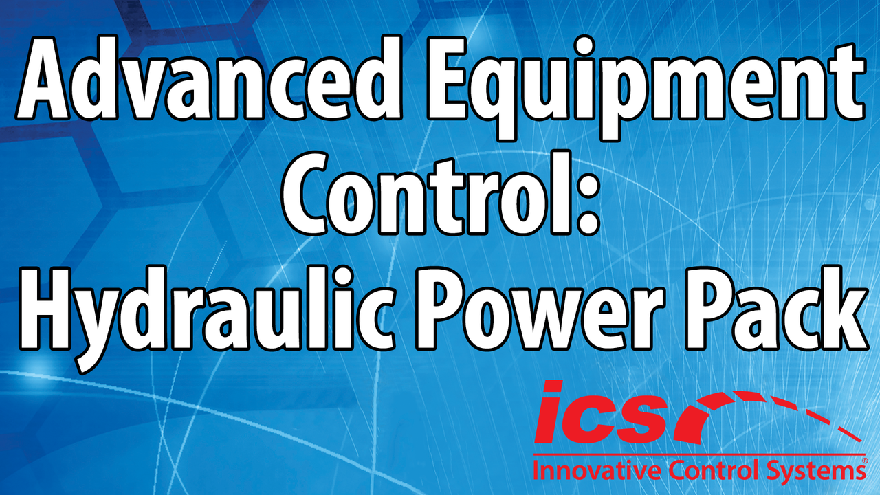 Advanced Equipment Control: Hydraulic Power Pack