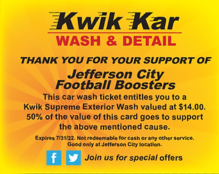 Fundraise at Kwik Kar Wash   Detail   Lube, located at Jefferson City, MO & Osage Beach, MO