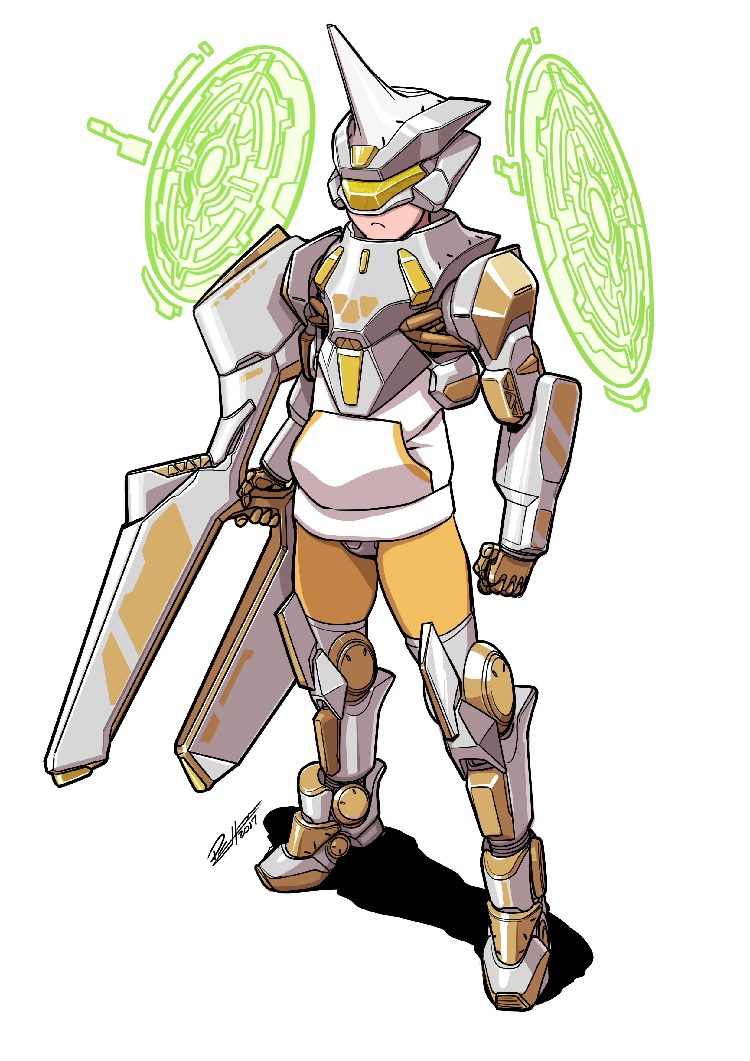 MM main char Armor Silver gold
