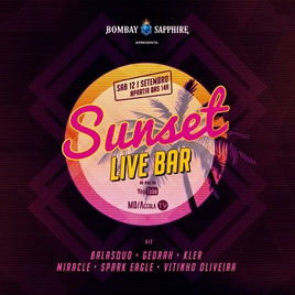 ☀️ Sunset Live Bar 2ª Edição | 12/09 | 14h - 22h