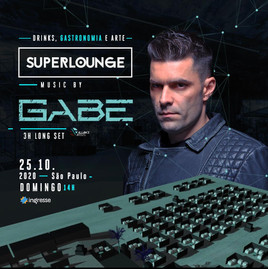 Dia 25/10 acontecerá o Superlounge music by Gabe