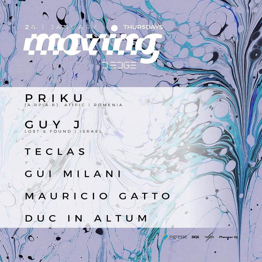 24/01 - D.EDGE | Moving presents: Guy J + Priku - Véspera de feriado!