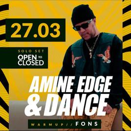 Sunset c/ Amine Edge & Dance dia 27/03 - Reagendado