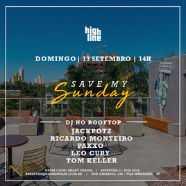 🏢 Highline Bar | 13/09 | Abertura as 14h