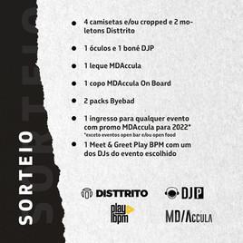 ⚠️ Sorteio MDAccula E Disttrito em Parceria com DJP e PlayBPM !!!