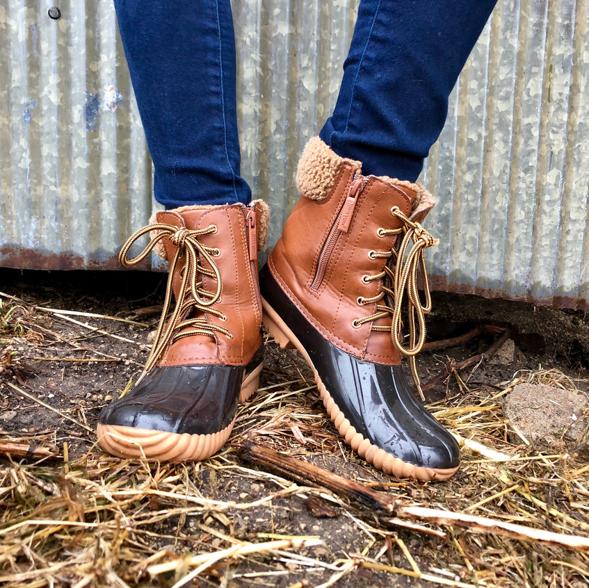 I love these for when the weather is wet but not  cold enough for a heavy boot!